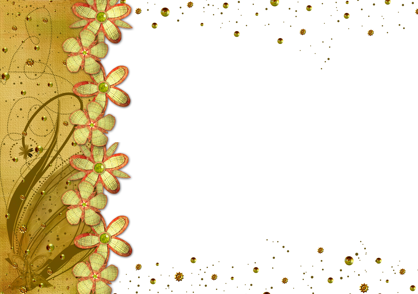 b7ad8231602 Flower frame png - psd