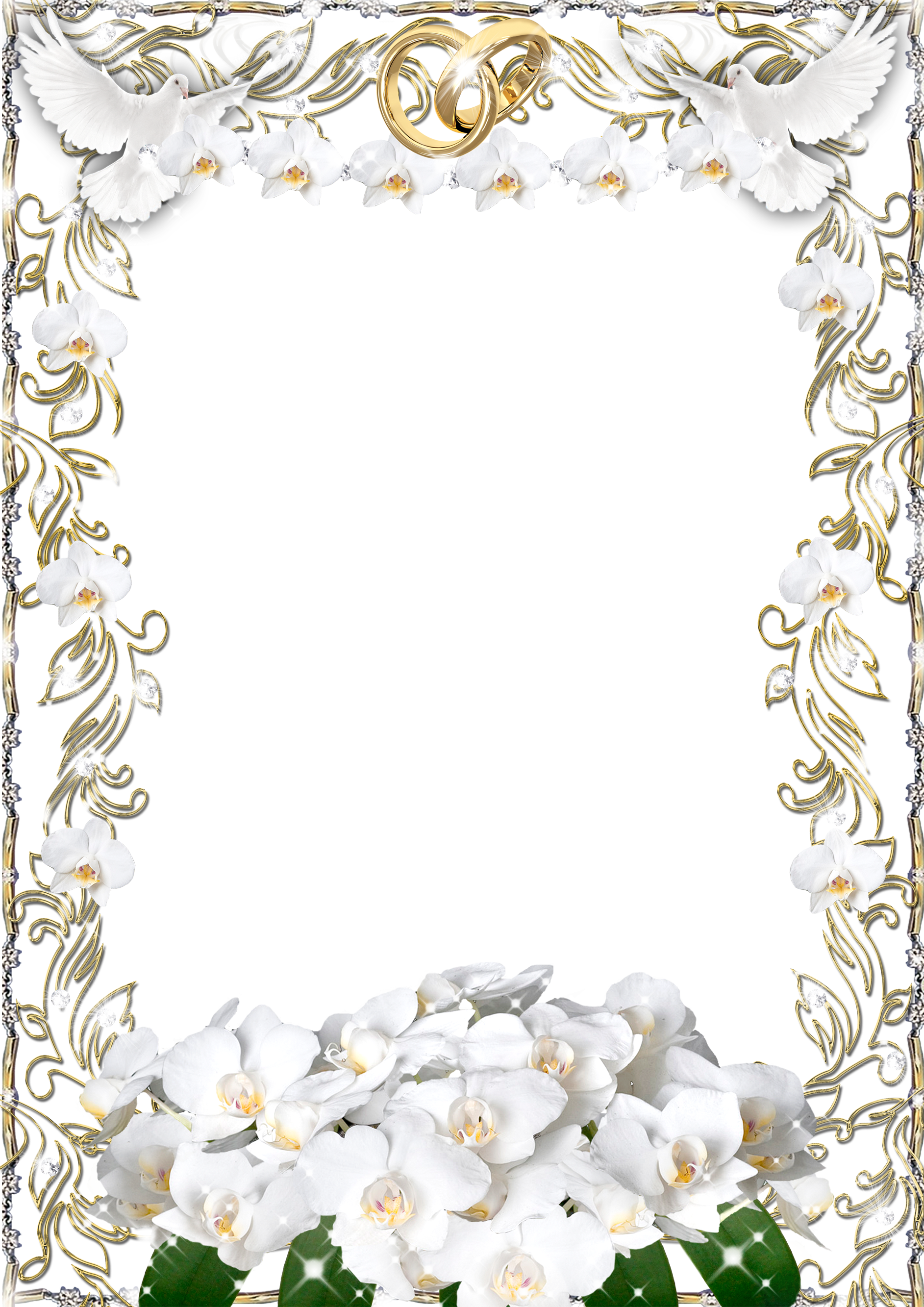 White Frame PNG free download