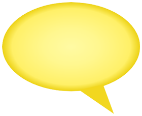 gradient comment bubble yellow png