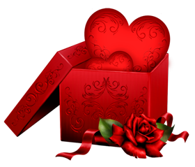 heart with gift box