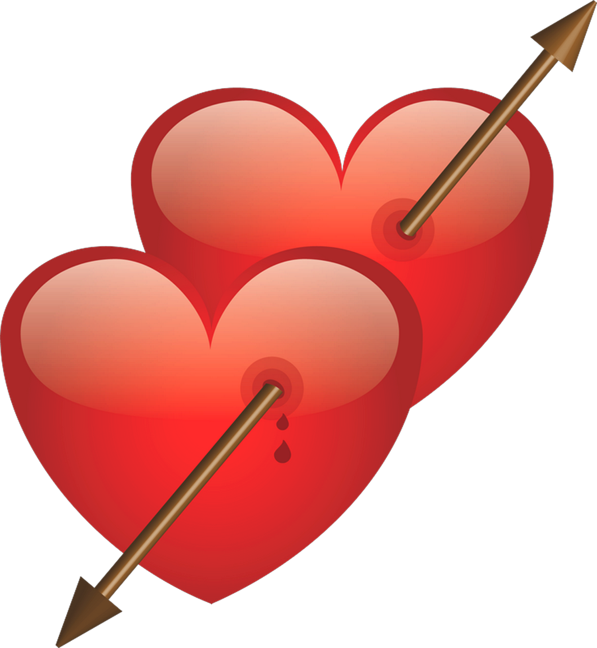 Heart with arrow PNG Pictures