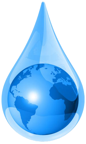 Water drop and world png images
